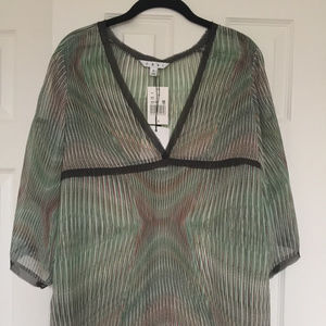 CAbi Sheer V-Neck Tunic